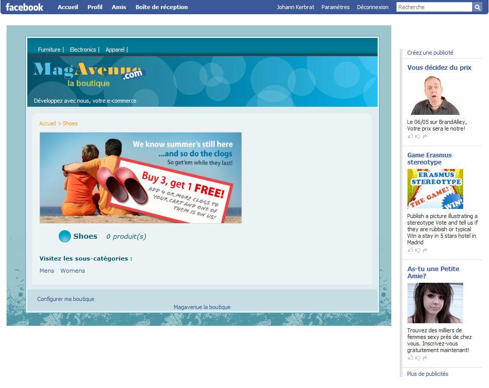 comparative second category magento prestashop facebook