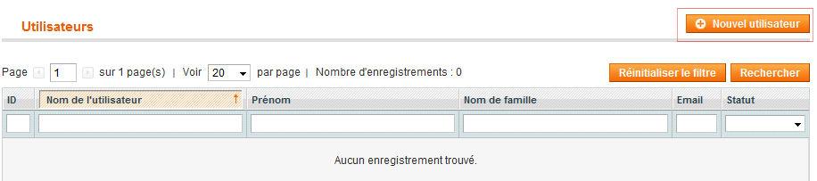 Nouvel Utilisateur WebService Magento