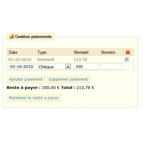 PrestaShop Payment management control