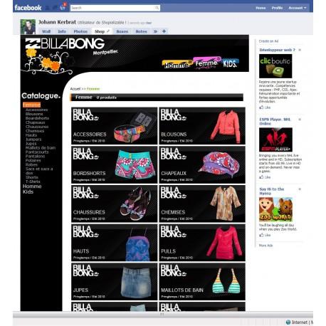 Thème sur mesures pour module Facebook Shopializable
