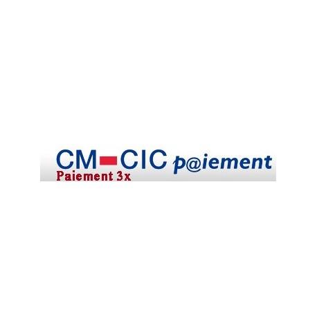 Cybermut - Crédit Mutuel - CIC - 3 fois