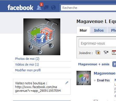 Notre site Magavenue sur Facebook