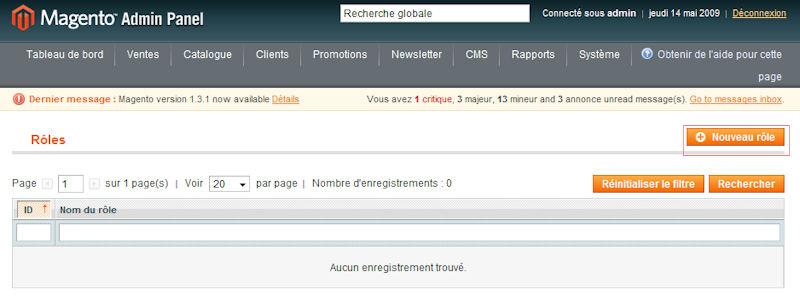 Nouveau role Webservice