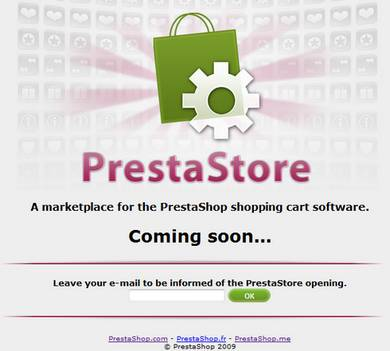 PrestaStore, boutique en ligne