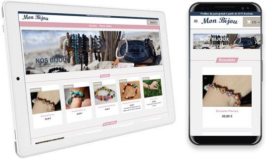 Affichage du site sur tablette et mobile